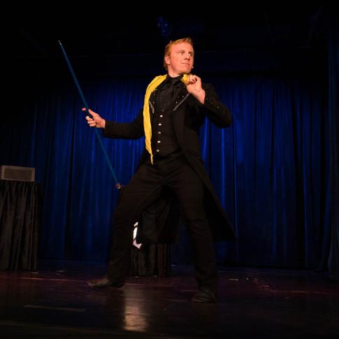 Elliott Hunter Performing at the Magic Castle