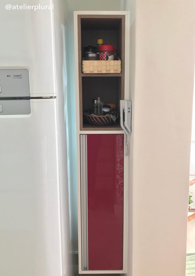 Nicho lateral da geladeira