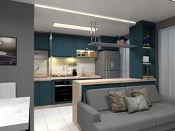 Sala e cozinha apartamento