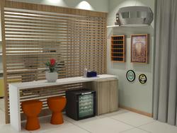 Vista 3D Painel Ripado e Bar