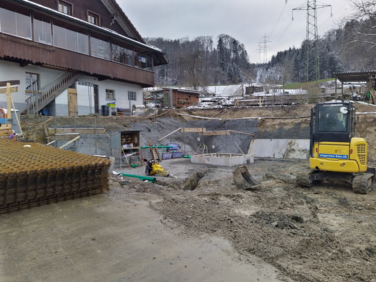 Das Fundament kann nun gelegt werden