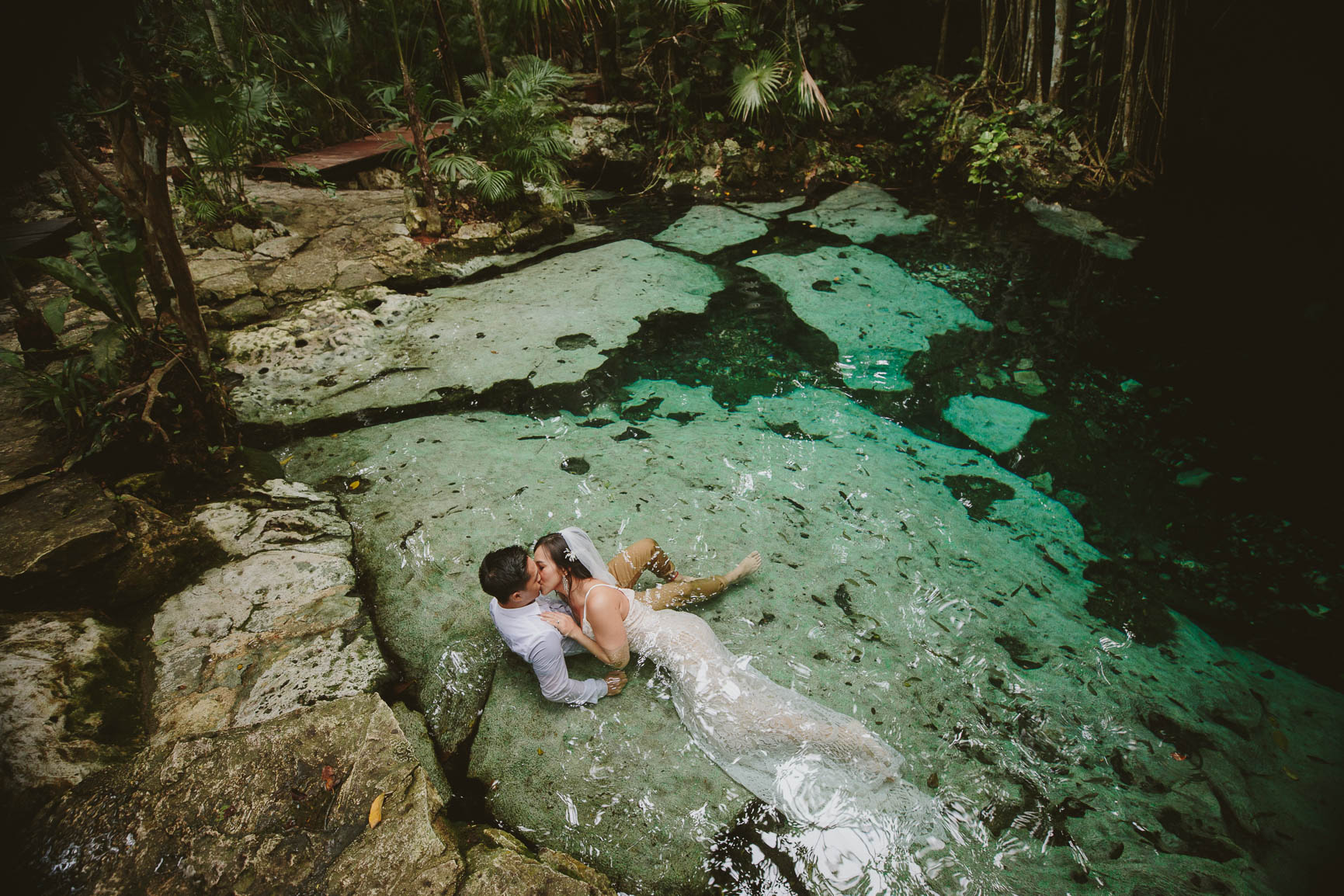 Tulum Cenote Trash The Dress Session
