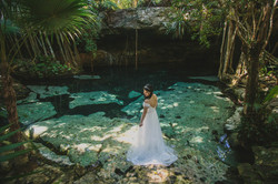 Cenote Trash The Dress