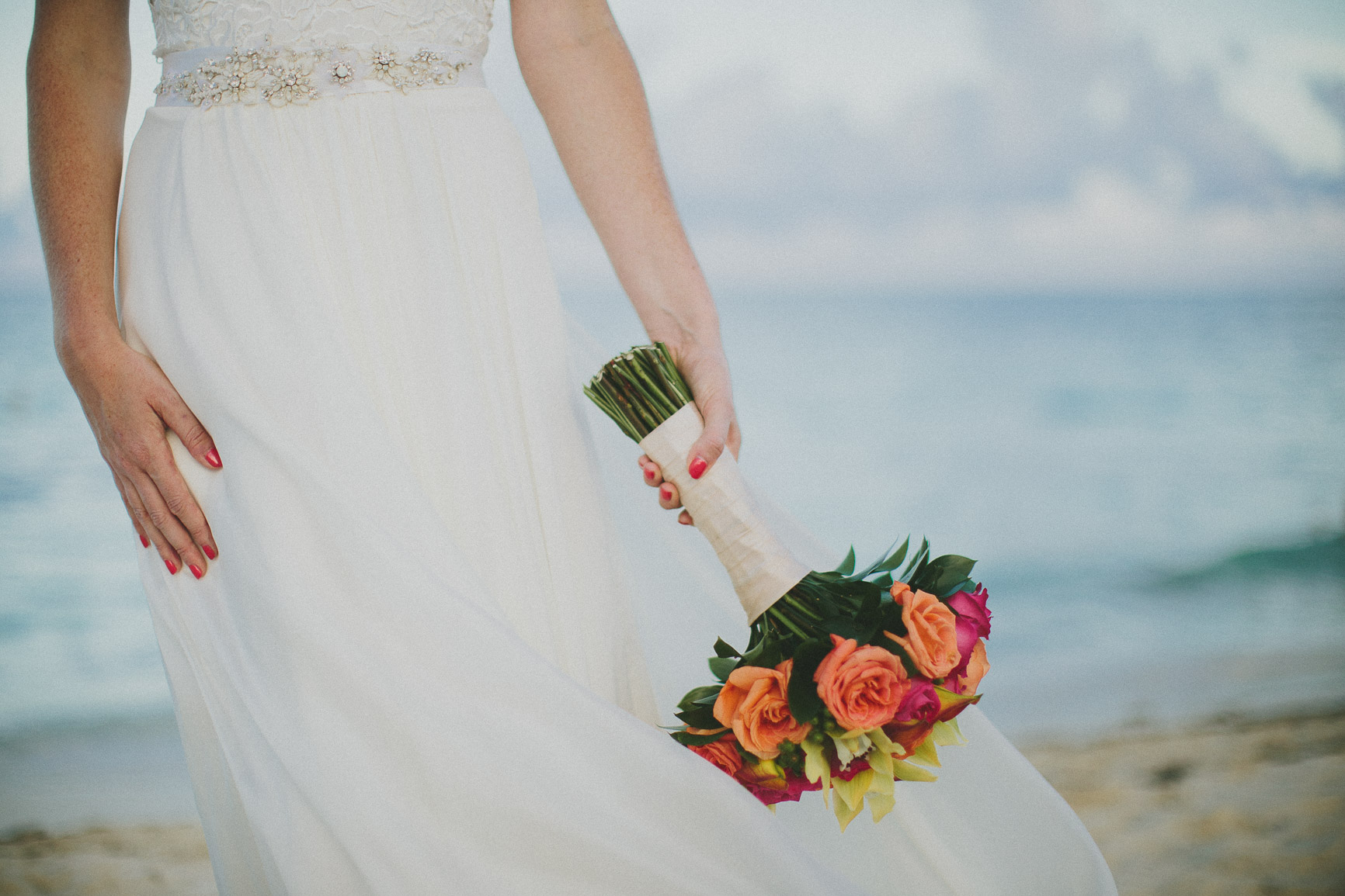 Playa del Carmen Wedding Bridal Bouquet