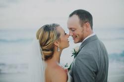 Tulum bride and groom beach photo session