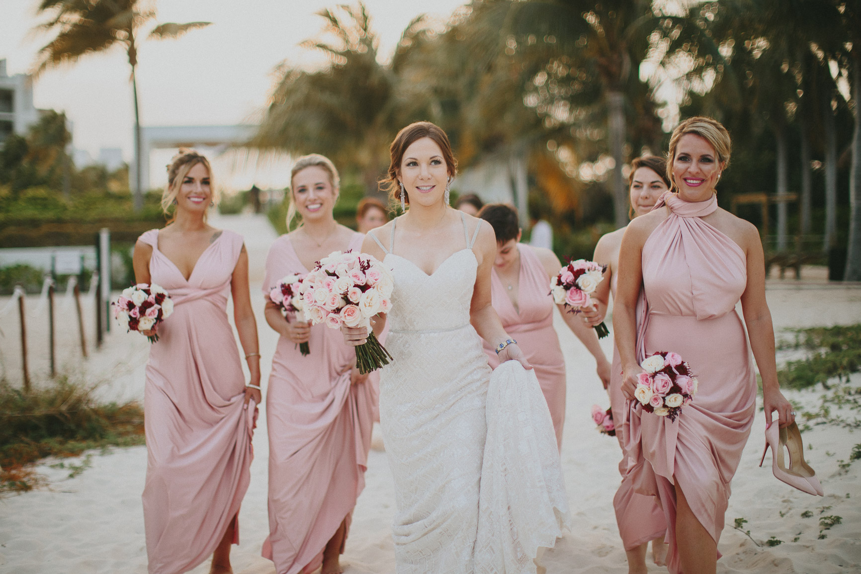Cancun Bridesmaids Destination Wedding Photographer