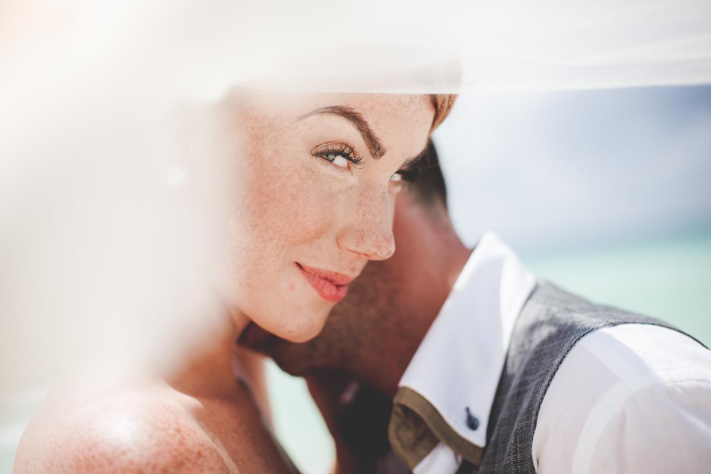 Bride and Groom Beach Wedding Photos
