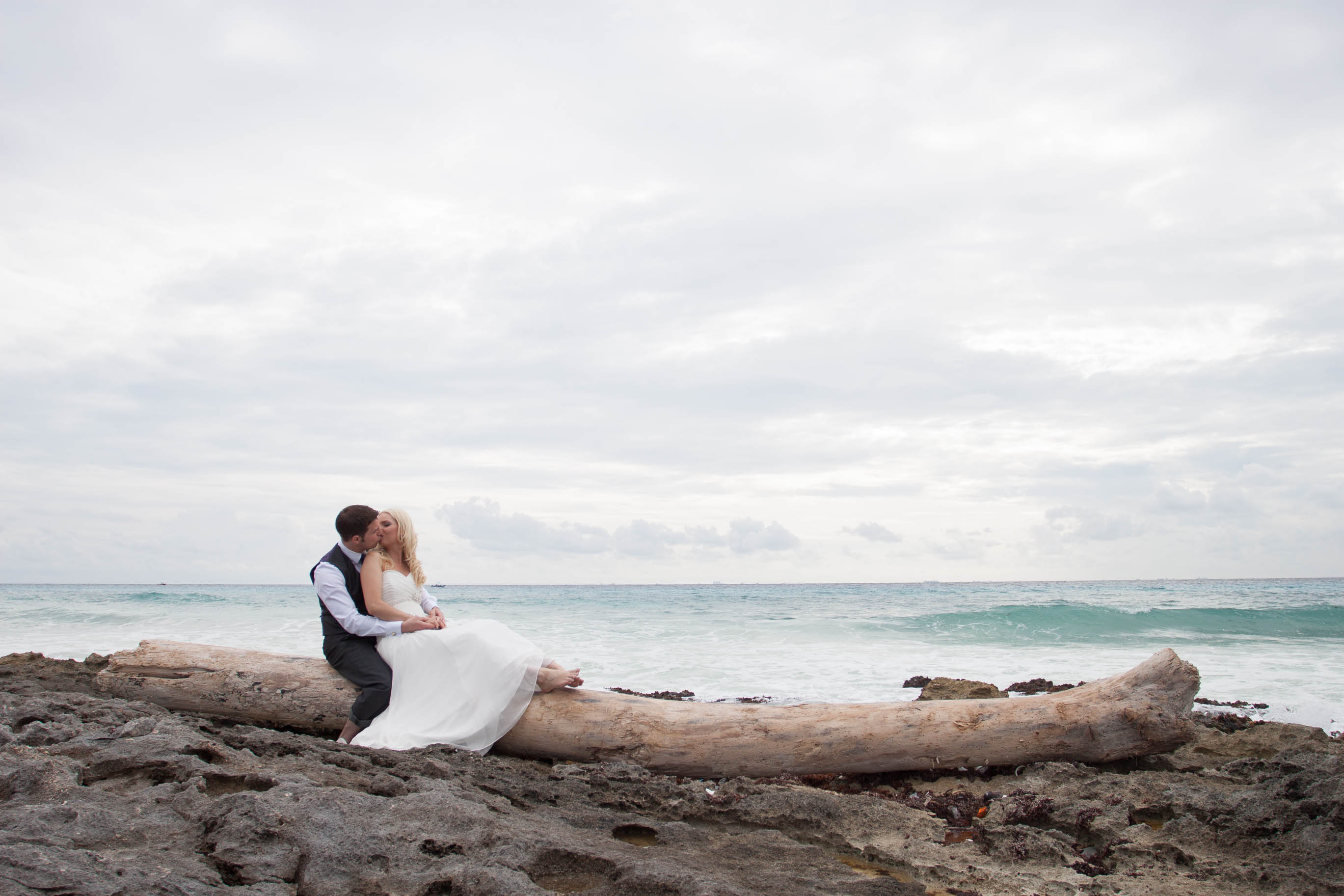Playa del Carmen Trash The Dress Iheart Studio