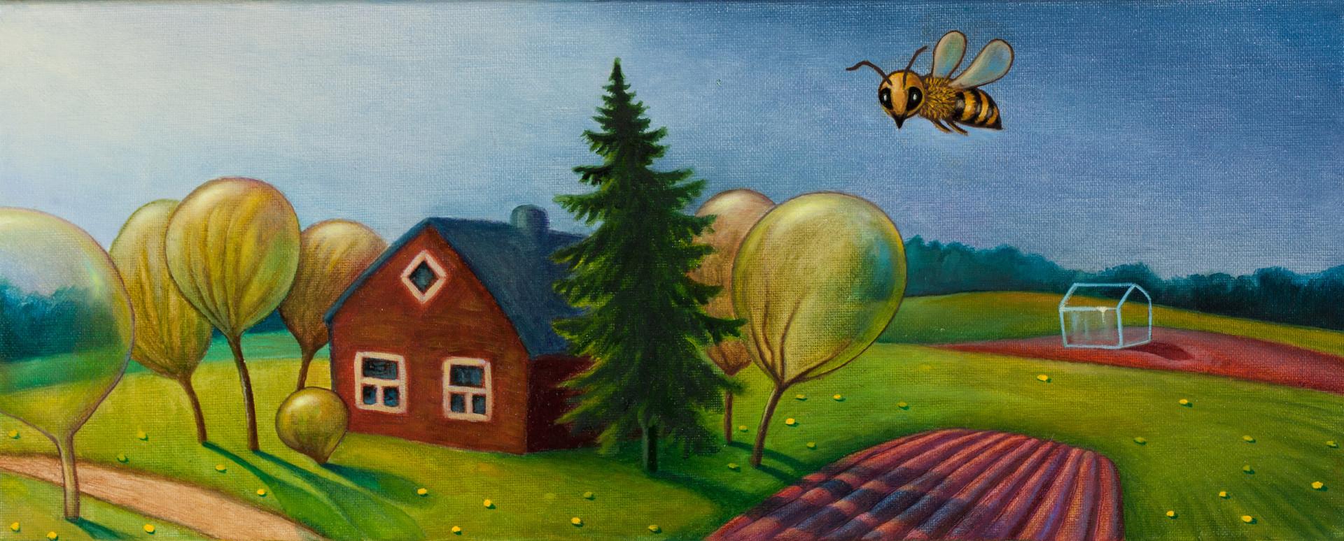Jeb vai biti ciemā lūgsim? Perhaps, we should invite a bee?