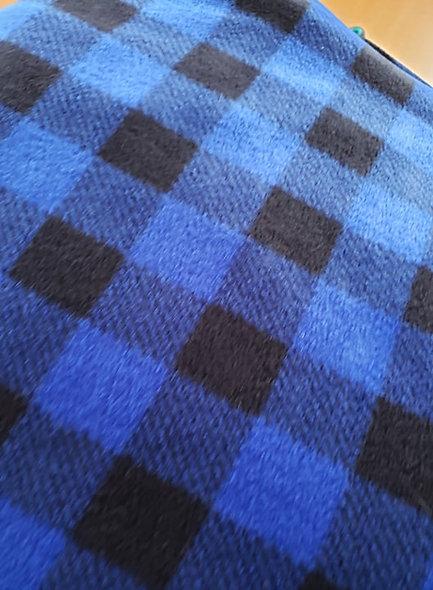 Dog Winter Fleece Jacket Buffulo Blue Plaid