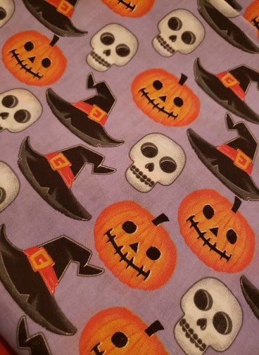 "2"" Martingale Collar Witch Hats and Pumpkins Print"