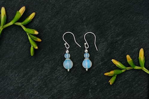 Sterling Silver & Opalite Earrings