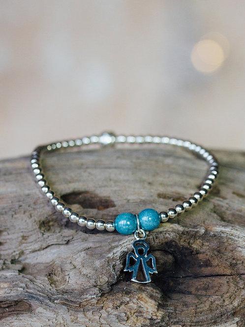 Silver Bead Charm Bracelet