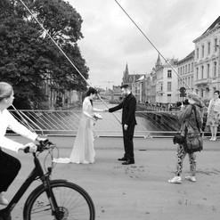 Gent. Mariage at the Predikherenlei.