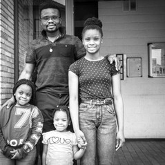 Saturday afternoon.   I asked Prince if I could take a picture of his family at his home.  At the left, you see Jeanette, Brielle in the middle and at the right Princess.   Prince was proud to announce that within a few weeks, his oldest daughter will start at one of the most prestigious secundary schools that still advocates wearing a uniform.