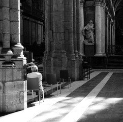 Only people who want to pray are allowed in the cathedral.  I prayed for a meaningfull picture.