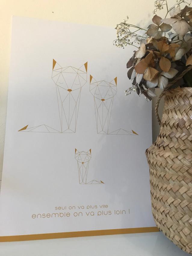Affiche Famille Renard