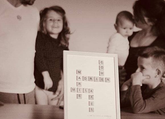 """Affiche """"NOTRE FAMILLE"""" à personnaliser"""