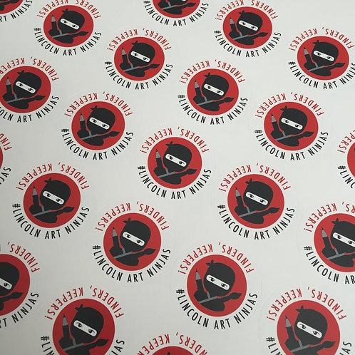 Lincoln Art Ninjas sticky labels