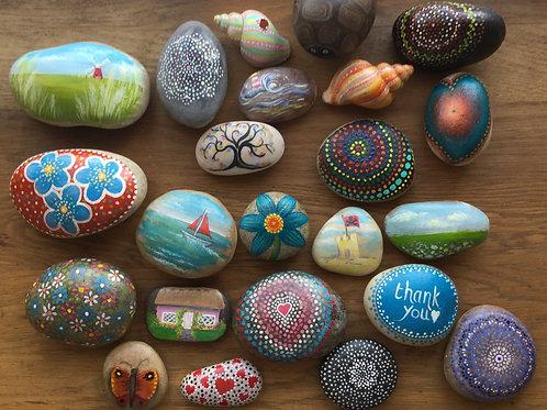 Learn to paint rocks!