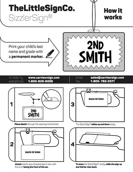 Parent Car Sign