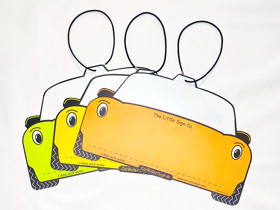Car Rider Signs (Pack of 50)