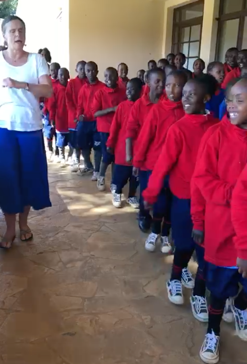 Teaching a harvest song from West Africa in Kenya