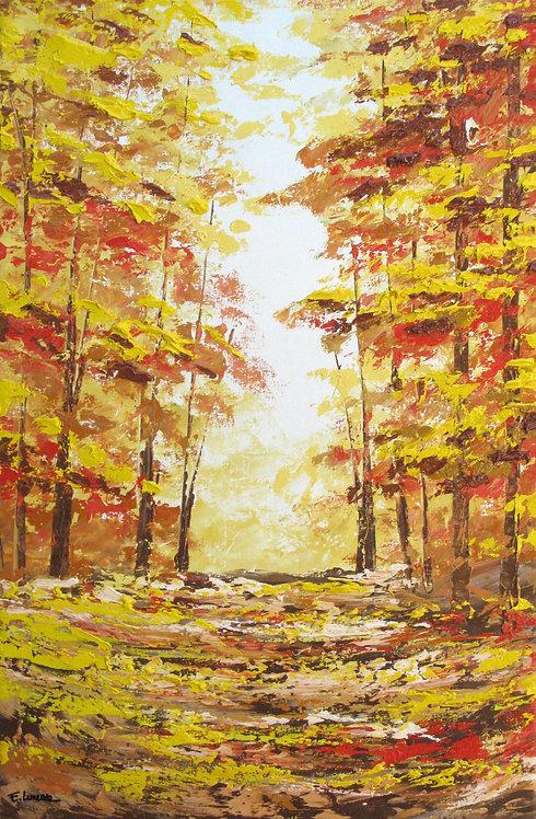 Suavidad de bosque (78 x 52 cms)