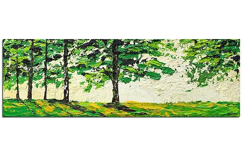 Bosque iluminado en la tarde (20 x 60 cms)