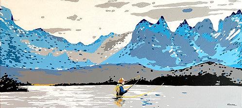 Pescador (45 x 100 cms)