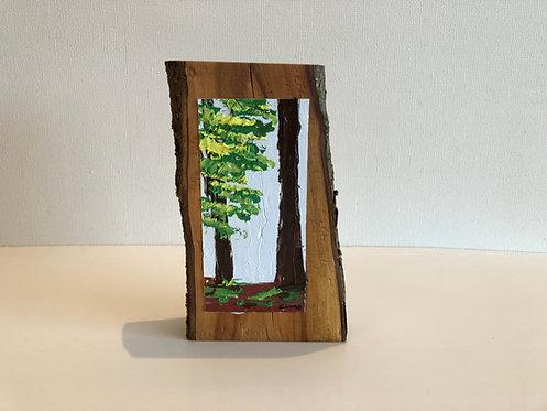 Oleo sobre Ciruelo (13 x 20 x 4 cms)
