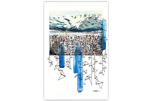 Santiago urbano - I (28 x 43 cms)