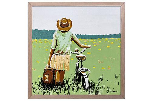 """Obra """"De paseo"""" (30 x 30 cms - enmarcada)"""