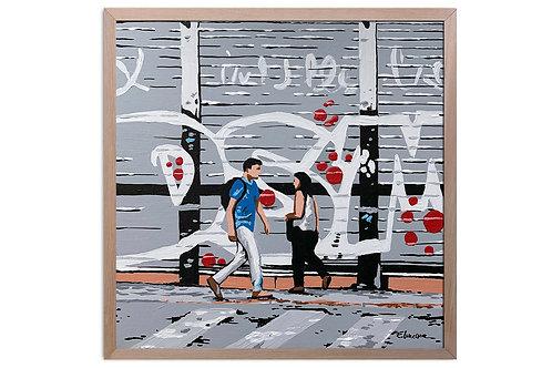 """Obra """"En camino hoy"""" (30 x 30 cms - enmarcada)"""
