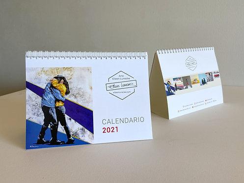 Calendario de escritorio año 2021