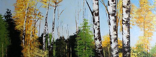 Abedules en verano (60 x 160 cms)