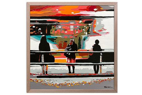 """Obra """"El mundo no para"""" (30 x 30 cms - enmarcada)"""