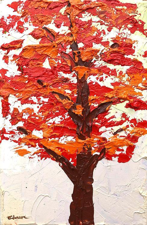 Un árbol otoñal (30 x 20 cms)