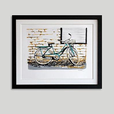 """Bicicleta nr 9"" (34 x 43 cms)"