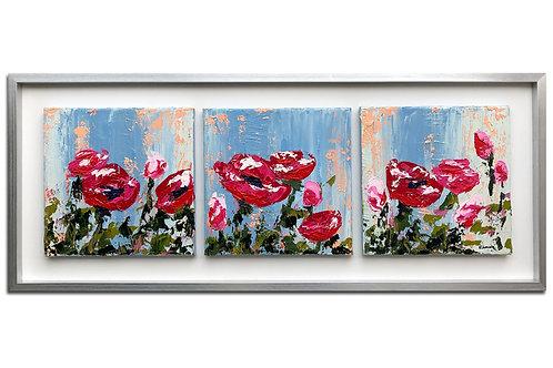 Trilogía de flores (45 x 108 cms)
