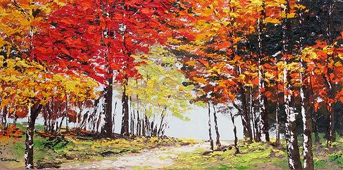 Mi versión del otoño (50 x 100 cms)