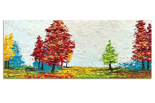 Texturas del bosque (40 x 100 cms)