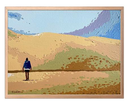 La tarde en el desierto (30 x 40 cms)