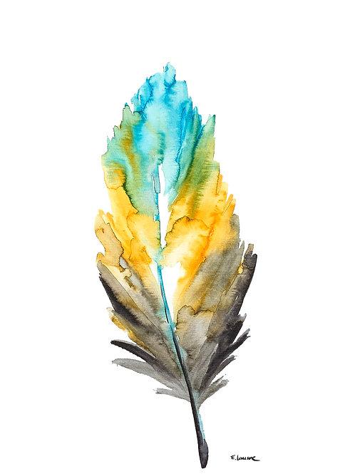 Recolectando plumas XIV (40 x 30 cms)