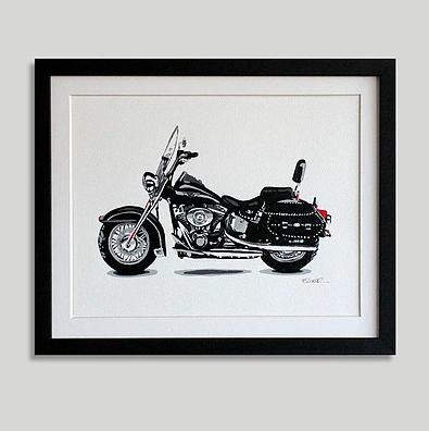 """Harley nr 1"" (34 x 43 cms)"