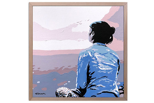 "Obra ""La vista desde aqui"" (30 x 30 cms - enmarcada)"