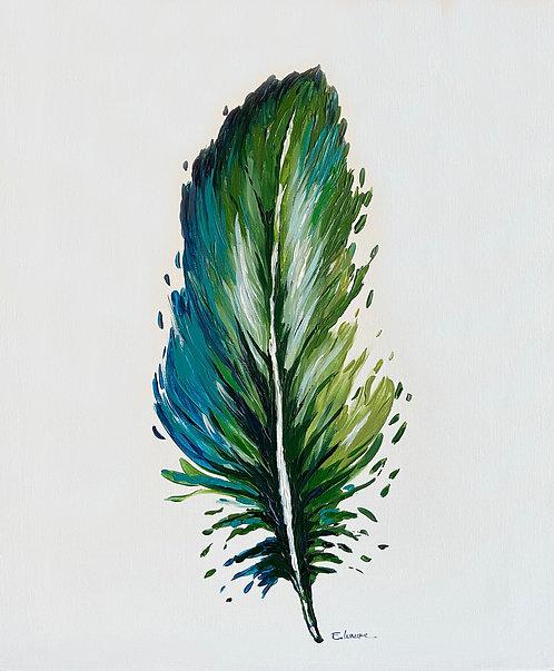 Pluma III (60 x 50 cms)
