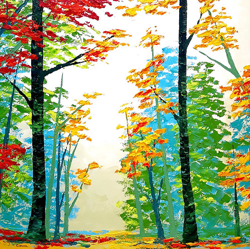 Perspectiva de colores (100 x 100 cms)