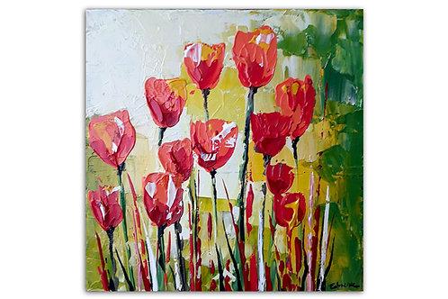 Tulipanes al sol (30 x 30 cms)