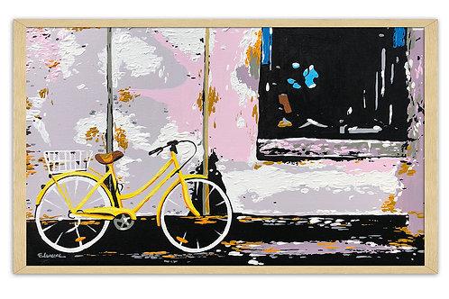 """Obra """"Un lugar en verano"""" (30 x 50 cms - enmarcada)"""